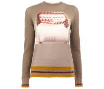 blurred woman intarsia jumper