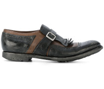 'Shanghai' Derby-Schuhe in Distressed-Optik