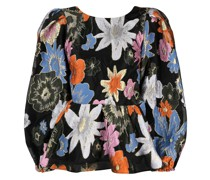 Bluse mit botanischem Print