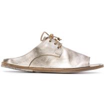 Metallic-Sandalen mit Schnürung