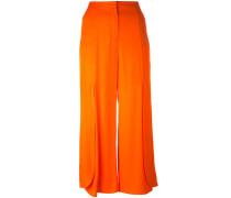Cropped-Hose mit weitem Bein - women - Viskose