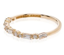 18kt Gelbgoldring mit Diamanten