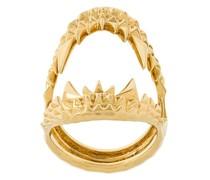 'Vampire Biter' Ring aus vergoldetem Sterlingsilber