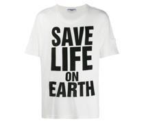 "T-Shirt mit ""Save Life on Earth""-Print"