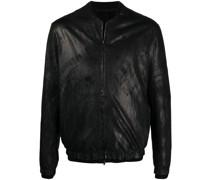 Kragenlose Jacke mit Reißverschluss