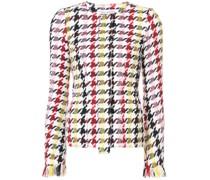 Tweed-Jacke mit grafischem Print