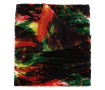 Plissierter Schal mit abstraktem Print