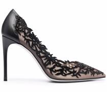 applique high heel pumps