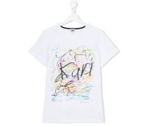 T-Shirt mit Kritzel-Print - kids