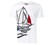 T-Shirt mit Boot-Print - men - Baumwolle - L