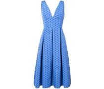 Gepunktetes Kleid mit Kellerfalten