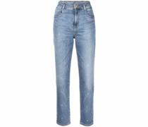 stud-embellished bootcut jeans