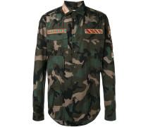 Hemd im Military-Look - men - Baumwolle - 41