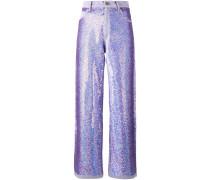 Weite Jeans mit Pailletten - women