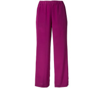 - wide leg trousers - women - Seide - 38