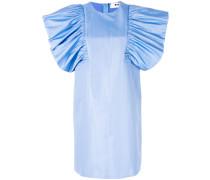 oversized ruffle sleeve dress