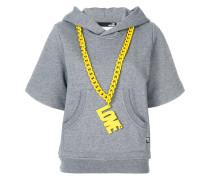 logo chain shortsleeved hoodie