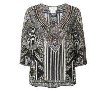 embellished tribal print blouse
