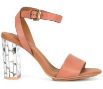 - Sandalen mit metallischem Absatz - women