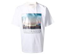 T-Shirt mit Landschafts-Print
