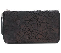 cracked-effect wallet - men - Kalbsleder