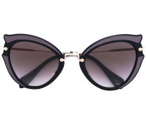 Cat-Eye-Sonnenbrille - women - Acetat/metal - 52