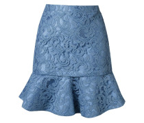ruffled hem 'marescot' lace skirt
