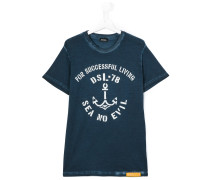 T-Shirt mit Anker-Print - kids - Baumwolle - 14