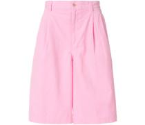 Kord-Bermuda-Shorts mit weitem Bein