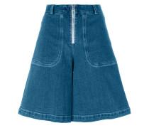 Jeans-Shorts mit weitem Bein