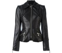 Taillierte Lederjacke - women - Leder/Polyester
