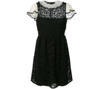 Kleid mit Spitzensaum