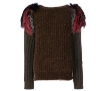 embellished shoulder sweater