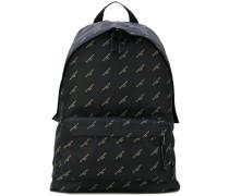 Black Gold Logo Nylon Explorer backpack