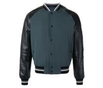 piped sleeve bomber jacket