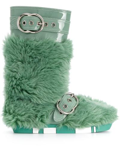 Stiefel mit Kunstpelzbesatz
