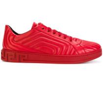 quilted Greek key sneakers