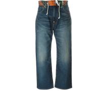 Jeans mit kontrastierender Taille - women