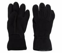 fleece-panelled gloves