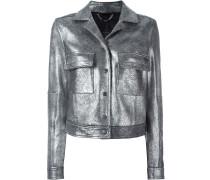 buttoned metallic jacket