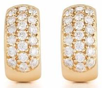 14kt DRD Gelbgoldcreolen mit Diamanten