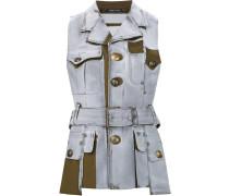 paint effect sleeveless jacket