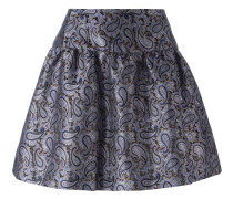 Jacquard-A-Linien-Rock mit Paisleymuster