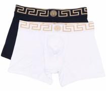 Set aus zwei Shorts mit Greca-Bund