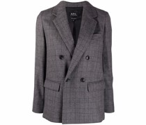 A.P.C. Prune double-breasted blazer