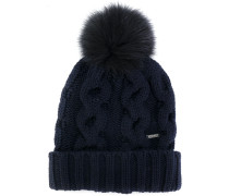 bobble knitted beanie