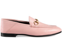 Pink Leather Brixton Horsebit loafers