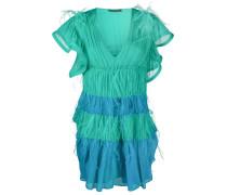 Kurzes Kleid mit Federn