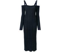 studded pleated midi dress