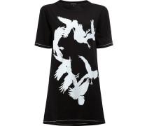 T-Shirt mit Vogel-Print